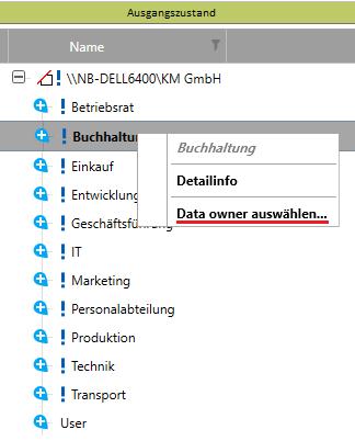 Data Owner auswählen