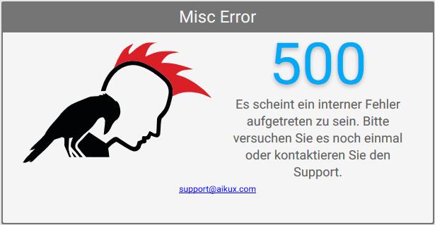 Fehler 500
