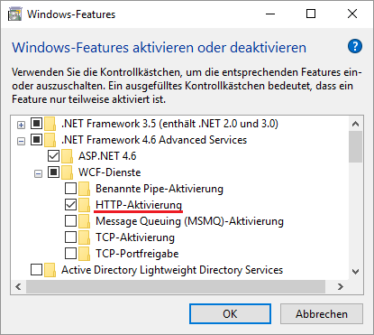 HTTP-Aktivierung Client