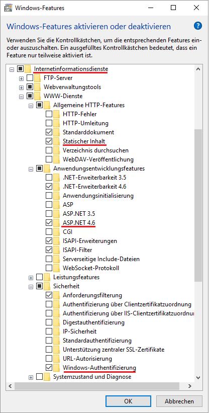 IIS Konfiguration